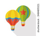 hot air balloon flat icon | Shutterstock .eps vector #348485321
