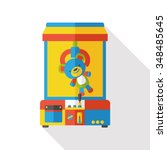 crane machine flat icon | Shutterstock .eps vector #348485645