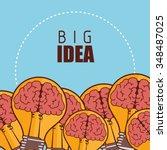 human brain creative ideas... | Shutterstock .eps vector #348487025