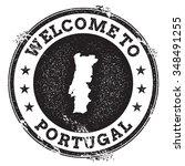 vintage passport welcome stamp... | Shutterstock .eps vector #348491255