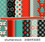 set of christmas abstract... | Shutterstock .eps vector #348493085