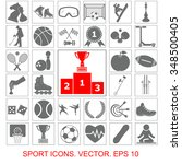 sports set vector icons | Shutterstock .eps vector #348500405