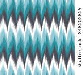 ikat seamless zigzag chevron... | Shutterstock .eps vector #348502859