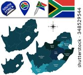 vector map of south africa with ...   Shutterstock .eps vector #348529544