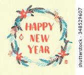 illustration festive christmas ... | Shutterstock . vector #348529607