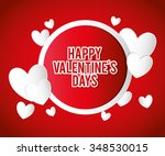 happy valentines day colorful... | Shutterstock .eps vector #348530015
