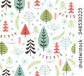 seamless christmas pattern | Shutterstock .eps vector #348530225