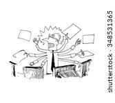 stressed manager. vector... | Shutterstock .eps vector #348531365