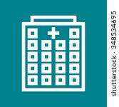 hospital  building  emergency... | Shutterstock .eps vector #348534695