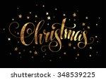 christmas hand lettering  ... | Shutterstock .eps vector #348539225