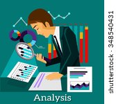 man analysis infographic and...   Shutterstock .eps vector #348540431
