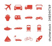 transportation icons. flat... | Shutterstock . vector #348544769