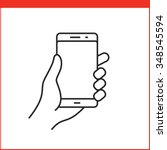 touch screen gestures icon for... | Shutterstock .eps vector #348545594