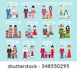 different nationalities happy... | Shutterstock .eps vector #348550295