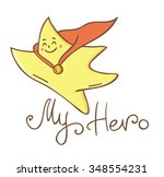cute star   star superhero.... | Shutterstock .eps vector #348554231