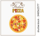 italian pizza isolated on... | Shutterstock .eps vector #348562577