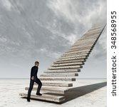 concept conceptual 3d business... | Shutterstock . vector #348568955