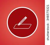 pencil or write icon | Shutterstock .eps vector #348575321