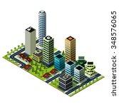 isometric city map. set of... | Shutterstock .eps vector #348576065