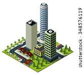 isometric city map. set of... | Shutterstock .eps vector #348576119