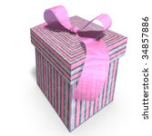 a colorful giftbox with a bow.... | Shutterstock . vector #34857886