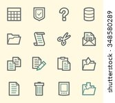 document web icons set | Shutterstock .eps vector #348580289
