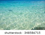 clear underwater surface ripple ... | Shutterstock . vector #348586715