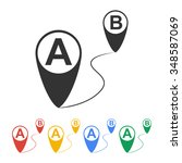 map pointer flat icon ...