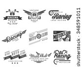 vintage motorcycle labels ...