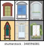 windows and door vector set ... | Shutterstock .eps vector #348596081