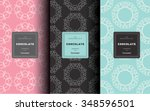 vector set of design elements... | Shutterstock .eps vector #348596501