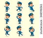 cartoon policeman character... | Shutterstock .eps vector #348598361
