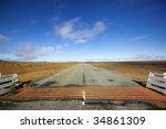 Cattle Grid Or Guard  On Road...