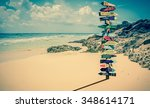 world directions signpost with... | Shutterstock . vector #348614171