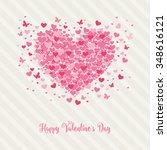 lovely heart design | Shutterstock .eps vector #348616121