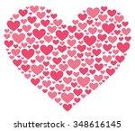 lovely heart | Shutterstock .eps vector #348616145
