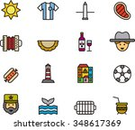 argentina outline icons | Shutterstock .eps vector #348617369