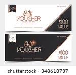 gift voucher certificate ... | Shutterstock .eps vector #348618737