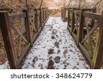 Forest And Wood Bridge In...