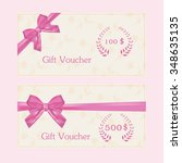 gift voucher and card for... | Shutterstock .eps vector #348635135