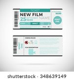 cinema concept with ticket... | Shutterstock .eps vector #348639149