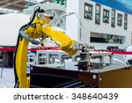 robotic hand machine tool at... | Shutterstock . vector #348640439