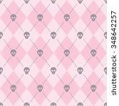 seamless pink pattern with... | Shutterstock .eps vector #348642257