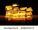 gold bullion on a black...   Shutterstock . vector #348643271