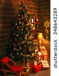 cozy holiday room with... | Shutterstock . vector #348643289