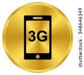 internet 3g   gold vector icon | Shutterstock .eps vector #348646349