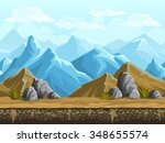 seamless background of snowy... | Shutterstock .eps vector #348655574