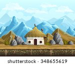 seamless background of the hut... | Shutterstock .eps vector #348655619