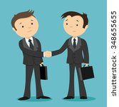 vector illustration. handshake... | Shutterstock .eps vector #348655655