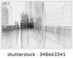 perspective 3d render of... | Shutterstock .eps vector #348663341